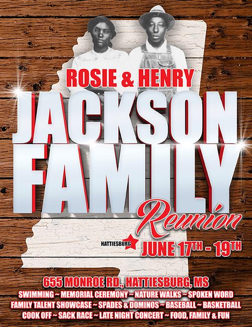 Jackson Family Reunion Flyer