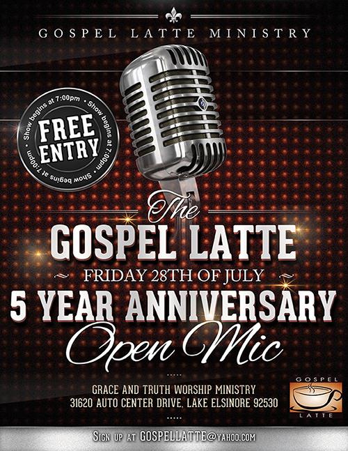 Gospel Latte 5 Year Flyer