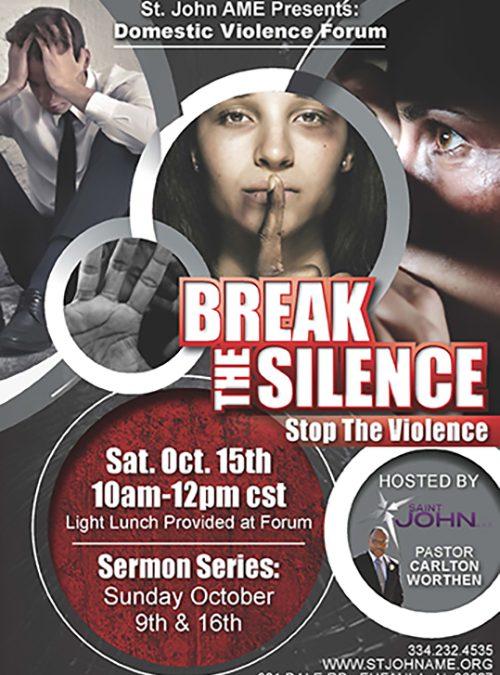 Break the Silence Flyer