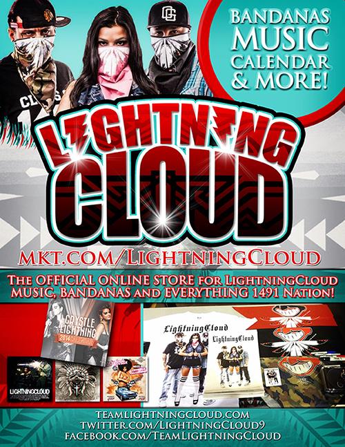 Lightning Cloud Merch Flyer