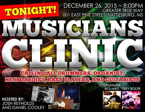 Musicians Clinic Flyer