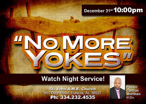 No More Yokes Flyer