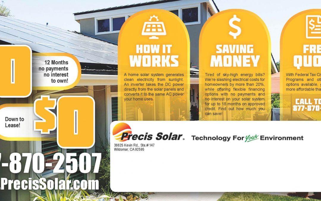 Solar Company Post Card