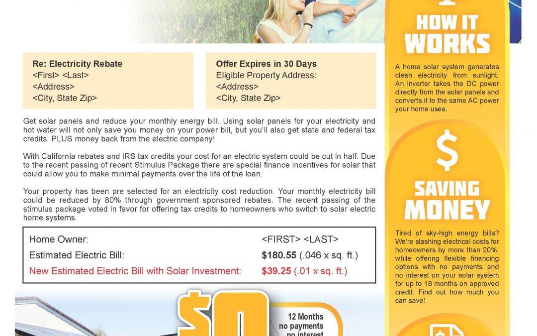 Solar Company Mailer