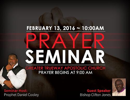 Prayer Seminar Flyer