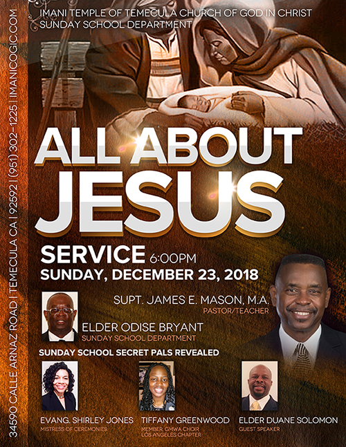 All About Jesus Flyer