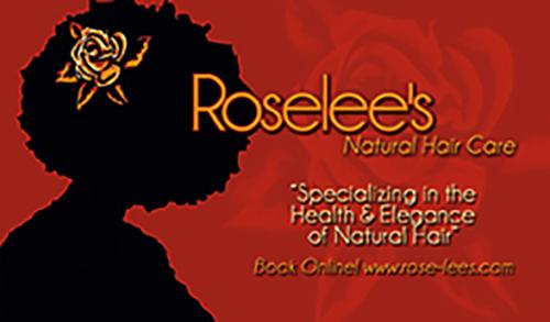 Roselees Hair Care Business Card