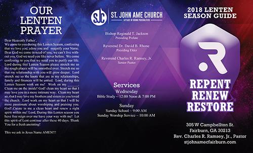 2018 Lenten Brochure