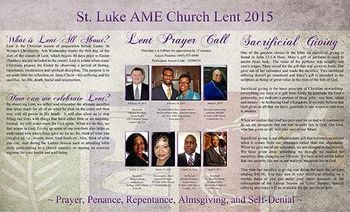 2015 Lenten Brochure