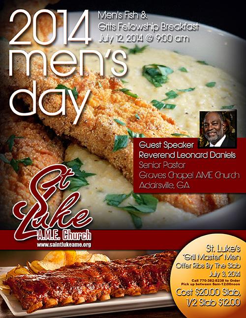 2014 Men's Day Flyer