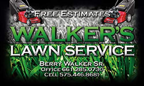 Walker's Lawn Service Business Card