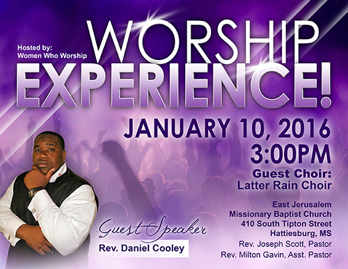 Worship Experience Flyer