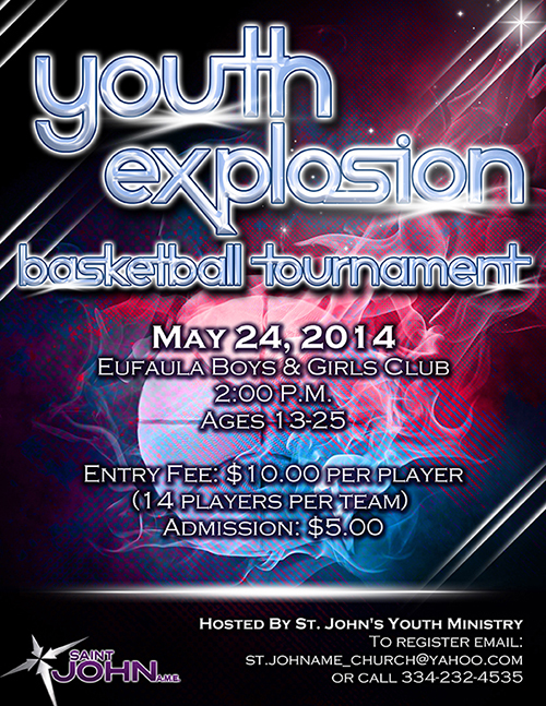 Youth Basketball Tournament Flyer