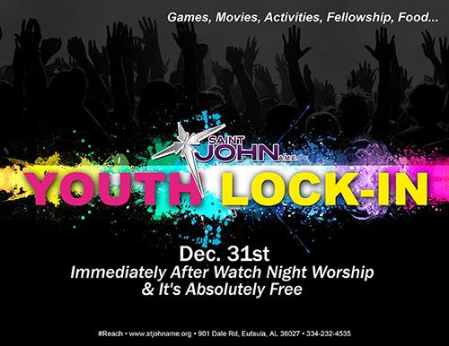 Youth Lock-in Flyer
